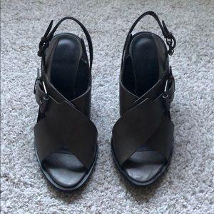 Allsaints grey sandal wedges